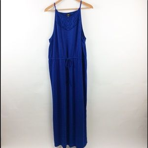 Mossimo Target Blue XXL Maxi Dress Mesh Detail
